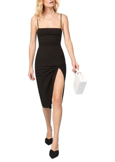 Reformation Scala Ribbed Body-Con Midi Dress