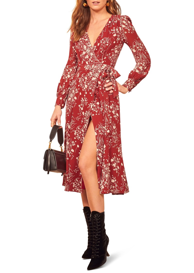 Reformation Susanna Wrap Midi Dress