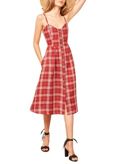 Reformation Thelma Linen Midi Dress