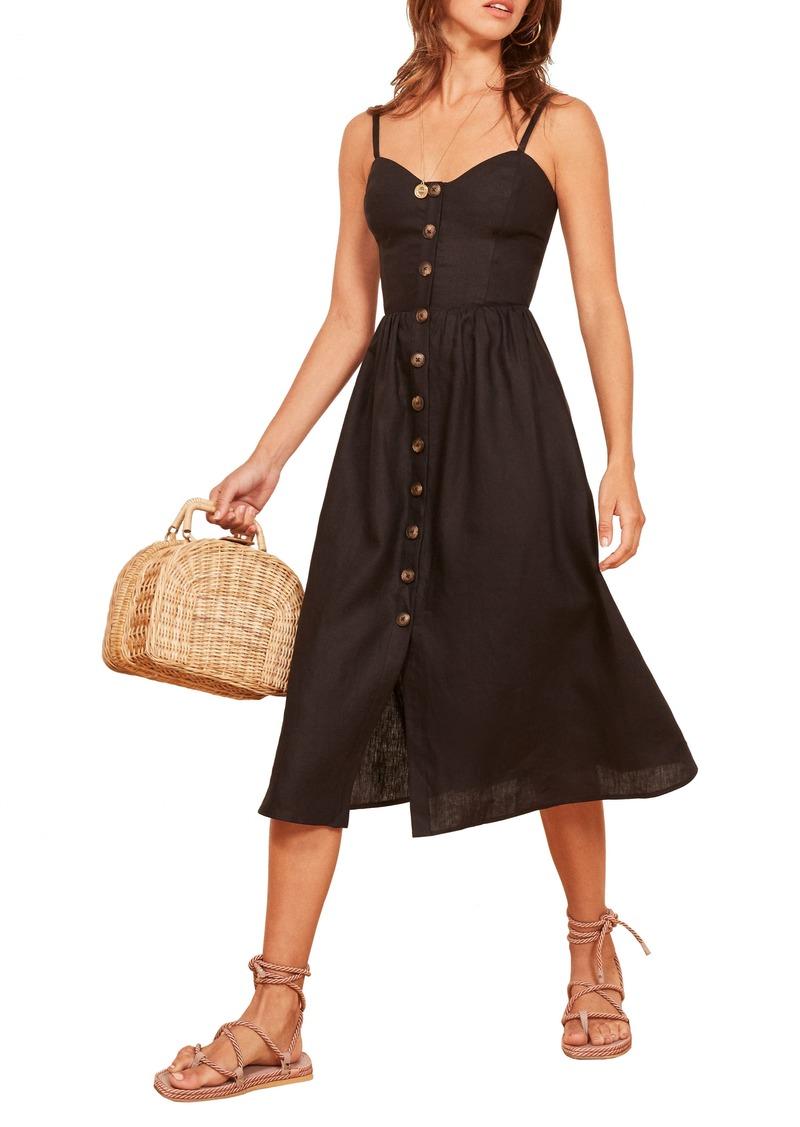 3565f2b43b SALE! Reformation Reformation Thelma Linen Midi Dress