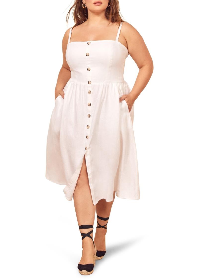 626922abbc Reformation Reformation Tori Linen Sundress (Regular   Plus Size ...
