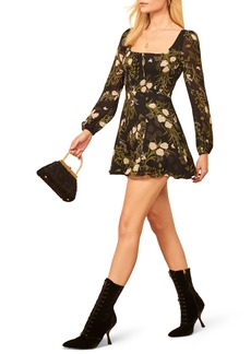 Reformation Wilder Floral Long Sleeve Minidress