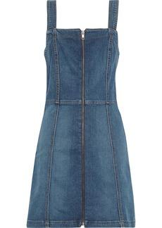 Reformation Woman Randy Denim Mini Dress Mid Denim