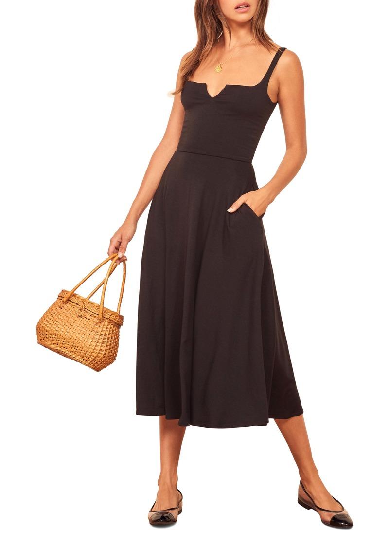 Reformation Zarina Notch Neck Dress