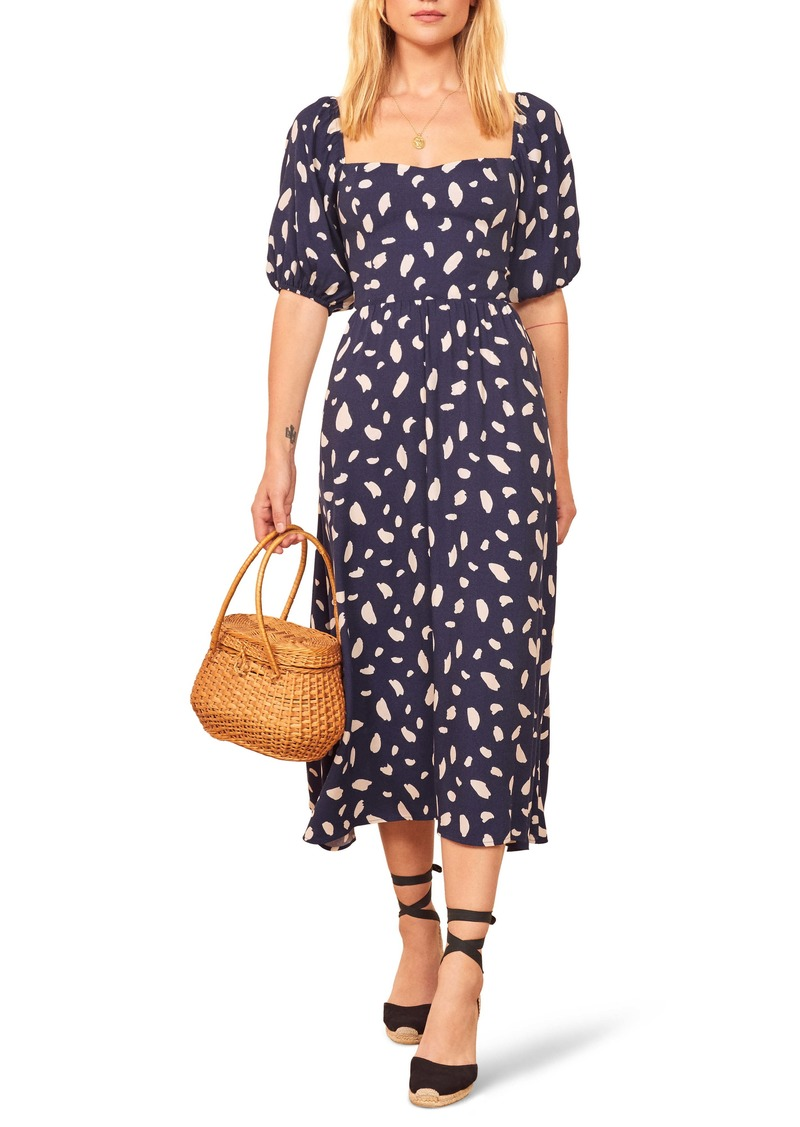 Reformation Zippy Print Dress