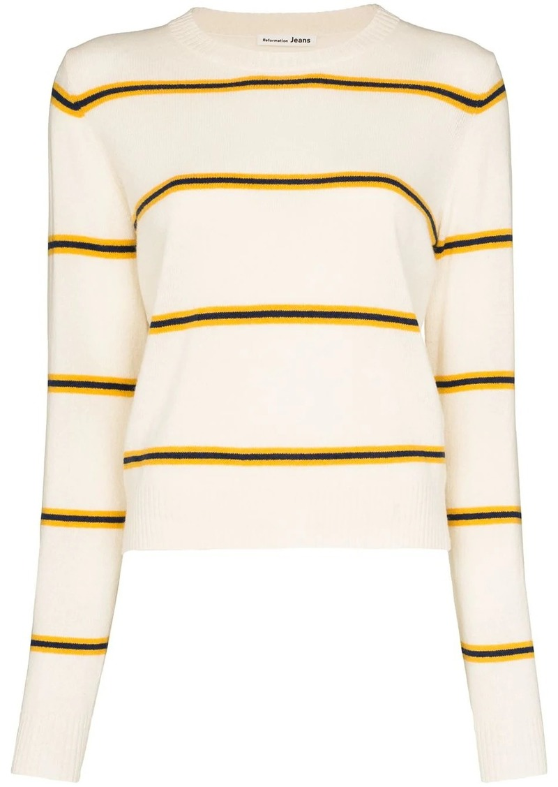 Reformation striped cashmere jumper