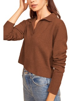 Women's Reformation Cashmere Polo Sweater