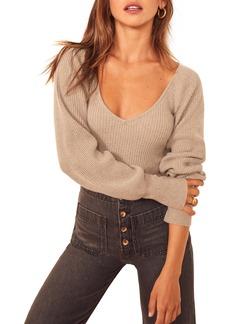 Women's Reformation Hart Wide Neck Sweater