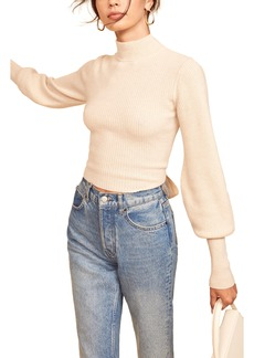 Women's Reformation Osteria Open Back Cashmere Sweater