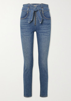 Reformation Yasmin Belted High-rise Straight-leg Jeans