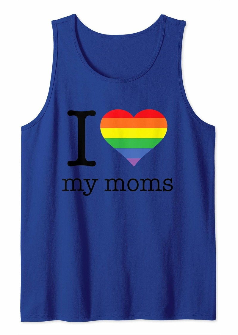 REI I Love My Moms - Pride Month - Love is Love - LGBTQ -Rainbow Tank Top