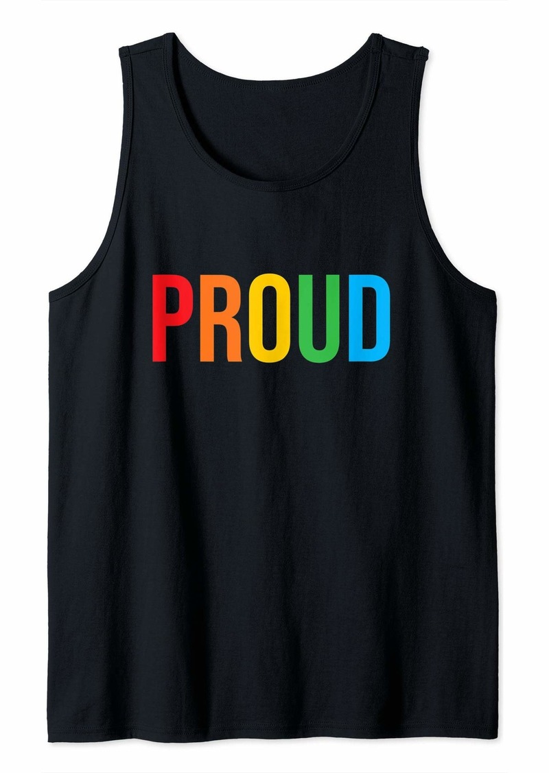 REI Proud LGBTQ - Pride - Equality - Love is Love - Rainbow Tank Top