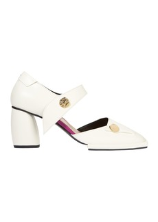 REI White Leather Pumps