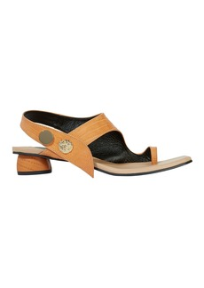 REI Embellished Leather Embossed Sandals