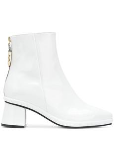 Reike Nen ring detail ankle boots - White