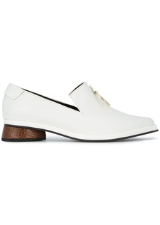 Reike Nen White Ring Leather Loafers