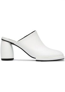 Reike Nen White Square Toe 60 Leather Mules