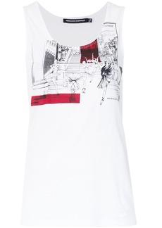 Reinaldo Lourenço Ballerina print tank top - White