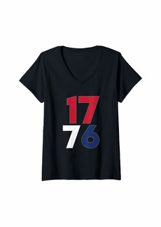 REI Womens 1776 - Fourth of July - Patriotic - USA - Independence Day V-Neck T-Shirt