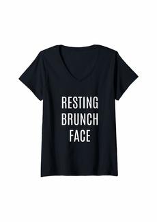 REI Womens Resting Brunch Face V-Neck T-Shirt