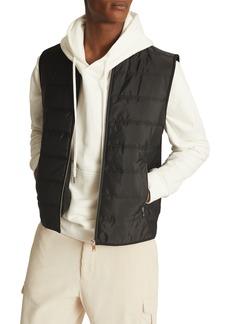 Men's Reiss Jarrow Quilted Front Mix Media Vest