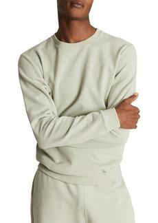 Men's Reiss Slim Fit Cotton Crewneck Sweatshirt