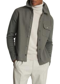 Men's Reiss Wishaw Slim Fit Mix Media Wool Blend Jacket