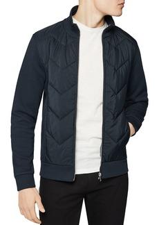 REISS Alban Zip-Front Funnel Neck Jacket