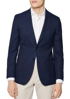 REISS Albert Peak Texture Slim Fit Blazer