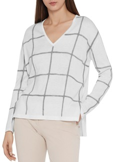 REISS Alegria Checkered Sweater