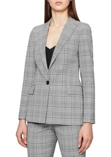 Reiss Alenna Windowpane Plaid Suit Jacket