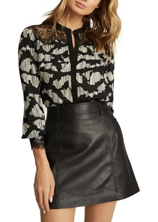 Reiss Ana Abstract Blouse