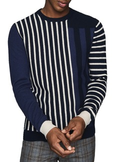 Reiss Andy Mixed Stripe Crewneck Sweater