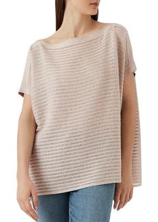 REISS Anita Shimmer Knit Box Top