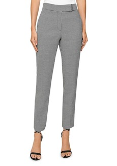 REISS Arlo Houndstooth Straight-Leg Pants