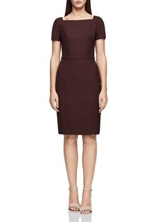 REISS Atlee Square-Neck Tailored Dress