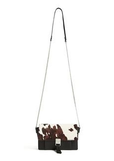 Reiss Aubrey Genuine Calf Hair & Leather Crossbody Bag