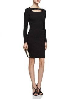 REISS Audrey Cutout Knit Dress