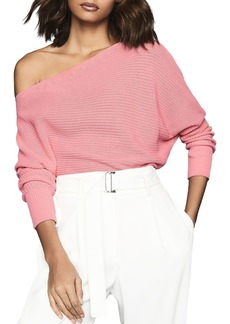 REISS Ava Cotton Boat-Neck Sweater