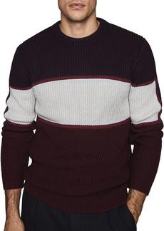 REISS Bano Color-Block Crewneck Sweater