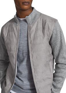 REISS Bernardi Alcantara Quilted Jacket