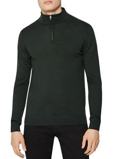 REISS Blackhall Half-Zip Mock-Neck Sweater