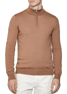 REISS Blackhall Half-Zip Wool Sweater