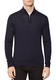 REISS Blackhall Merino Wool Half-Zip Sweater