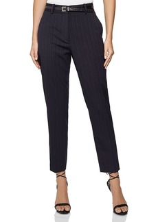REISS Bree Slim Pinstriped Pants