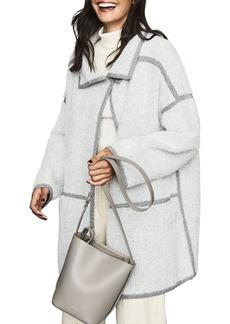 REISS Bria Herringbone Knit Coat