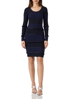 REISS Bridey Color-Block Knit Dress