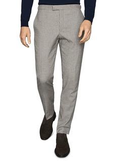 REISS Butler Micro-Tattersall Slim Fit Pants