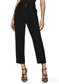 Reiss Cacey Belted Pleat Front Trousers