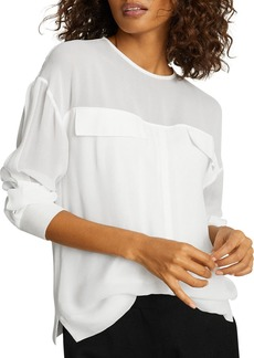 REISS Camille Semi Sheer Top